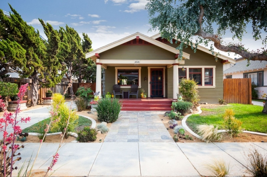 Miner Smith Craftsman Bungalow for Sale, Long Beach