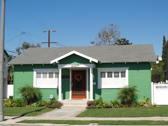 Bright Green House Cal Bungalow Craftsman And Bungalow Homes For Sale