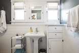 Bathroom, sink and cabinetry